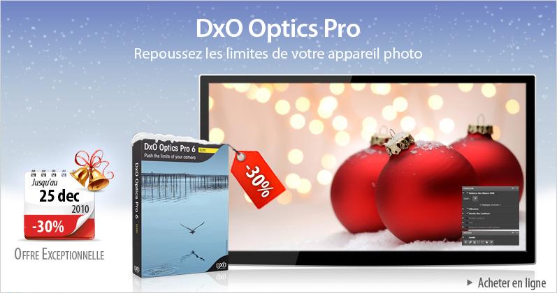 En cadeau le Logiciel DXO correction d'images numériques