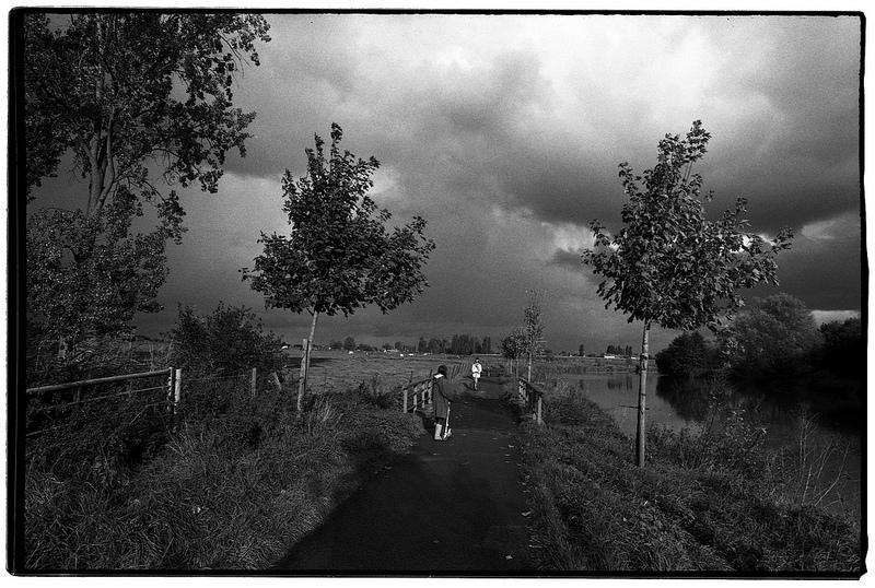 Plat Pays photo noir et blanc argentique Rollei retro