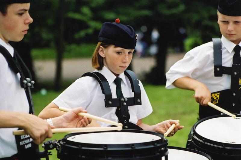 festival cornemuses Glasgow enfant tambour photo argentique