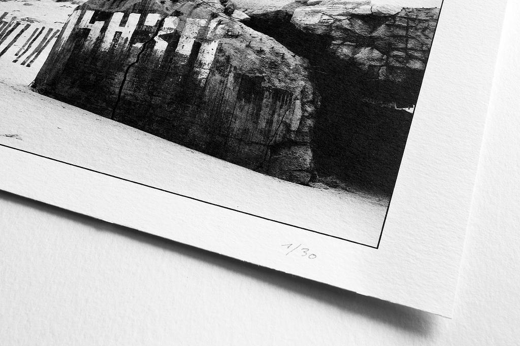 Photographie artistique noir et blanc plage du Nord