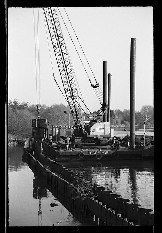 Photographie noir et blanc argentique Wambrechies Quesnoy