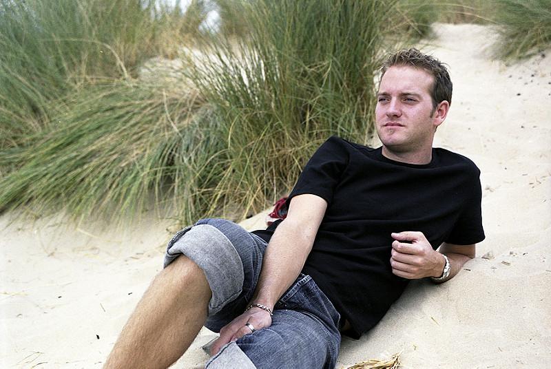 portrait masculin plage photo argentique couleur