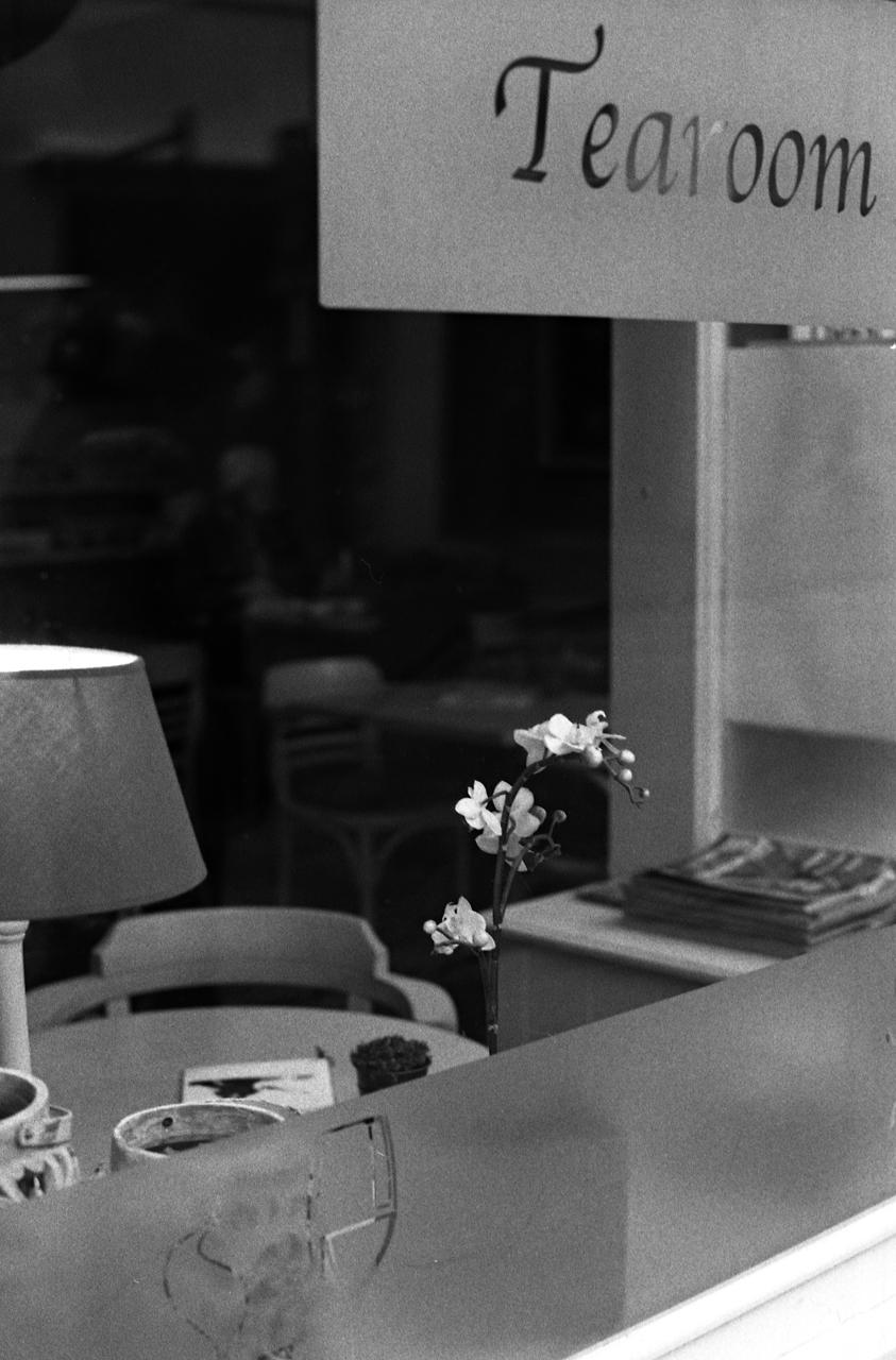 Photo argentique vitrine salon de thé