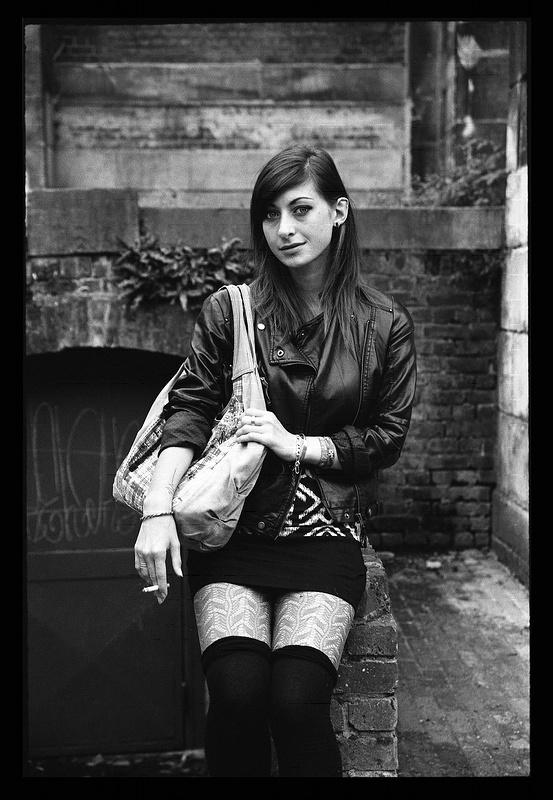 shooting photo noir et blanc à Lille avec Lou