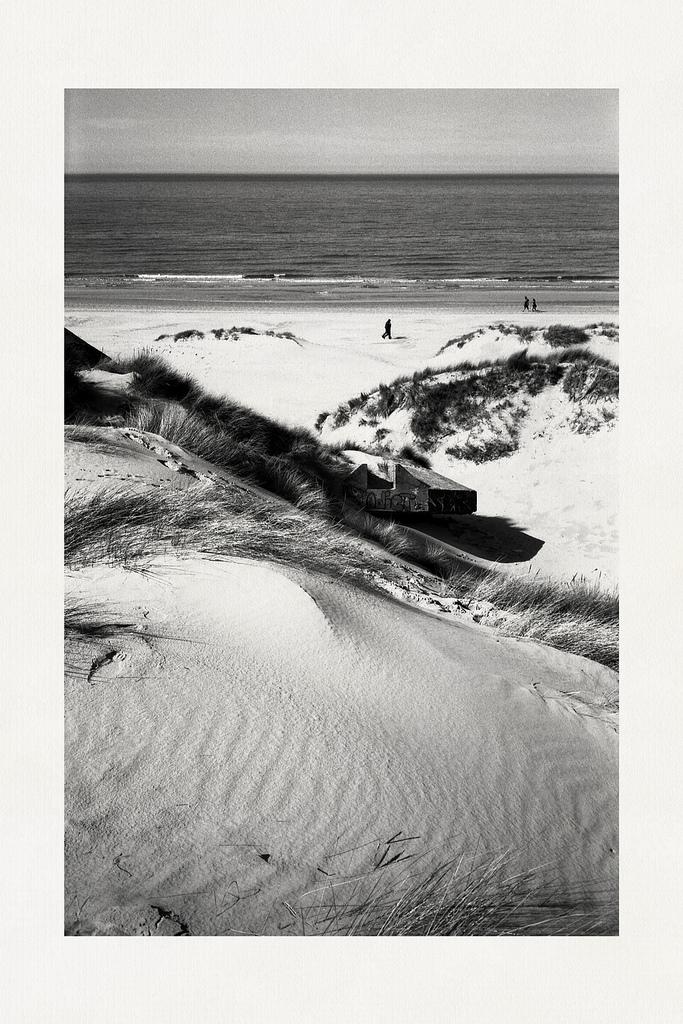 Tirage noir et blanc Dunes du Nord