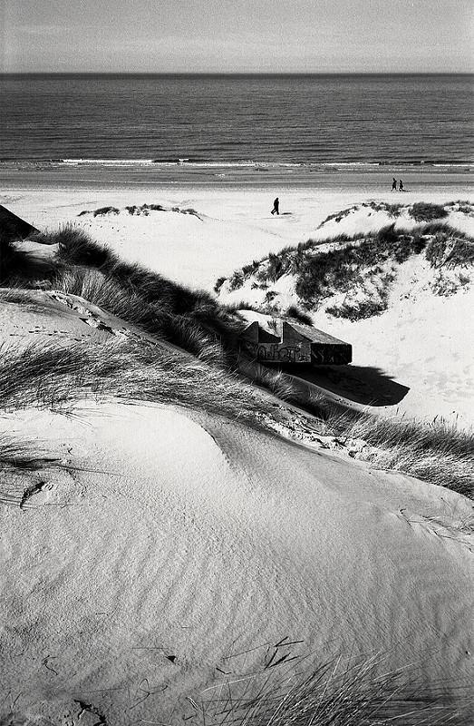 Dunes du nord tirage noir et blanc