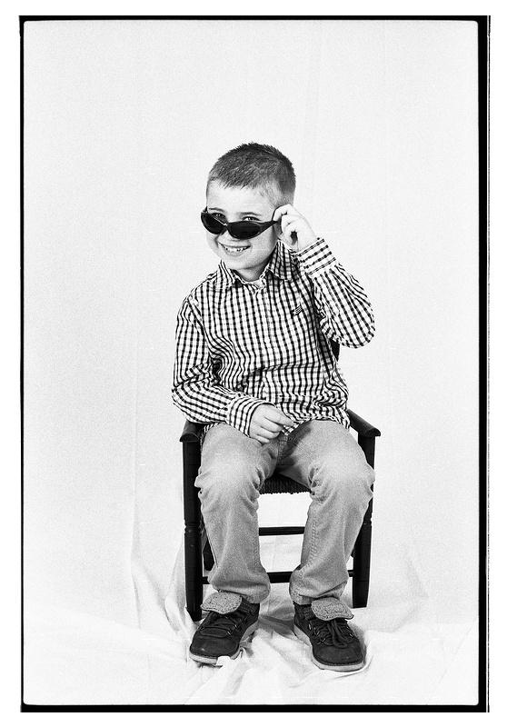 Séance photo noir et blanc argentique studio Wattrelos