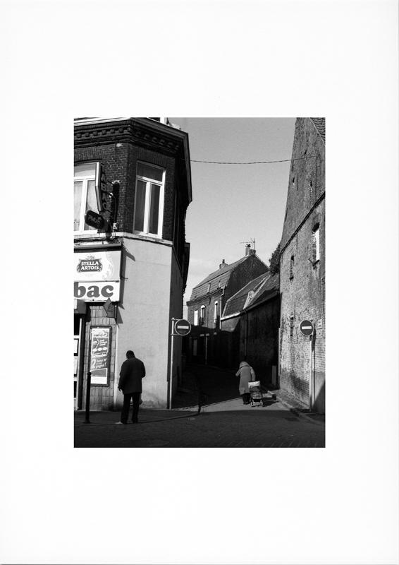 photographie argentique - tirage noir et blanc - Photographie de rue en hiver.