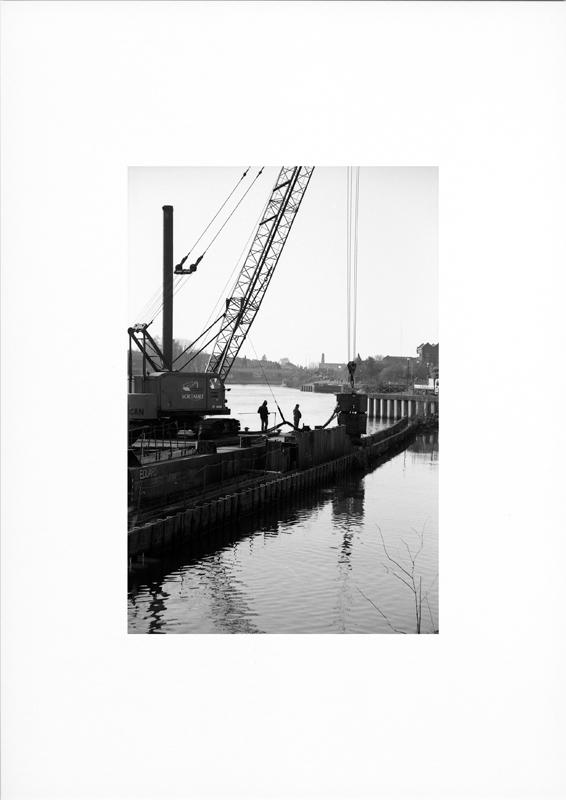 photographie argentique - tirage noir et blanc - Travaux sur berges