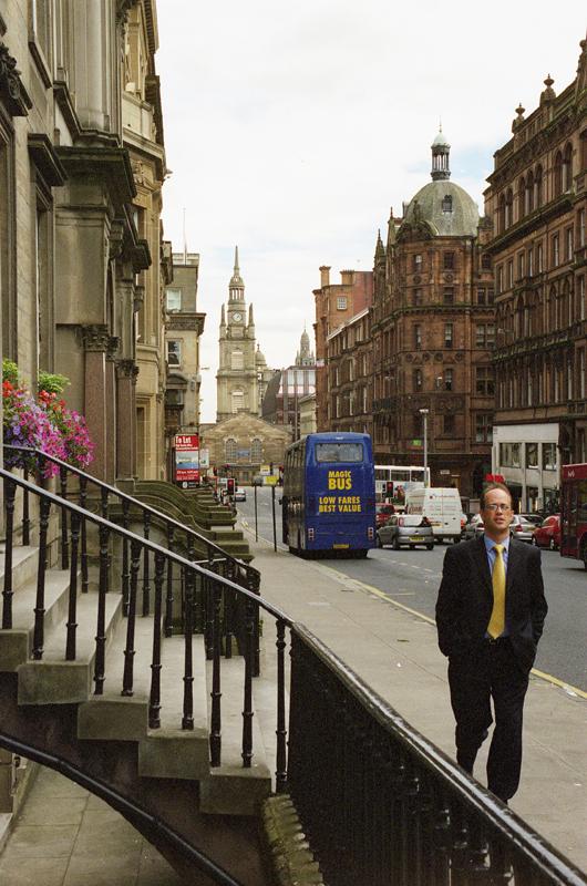 photo argentique rue de Glasgow Canon EOS 30