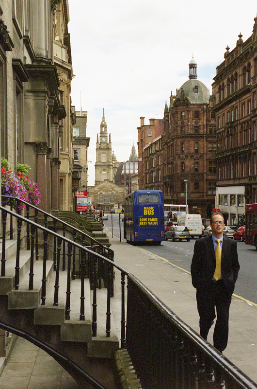 photo argentique rue de Glasgow Canon EOS 30