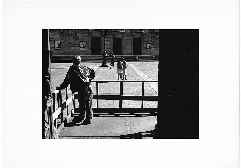 photographie de rue argentique noir et blanc Canon EOS