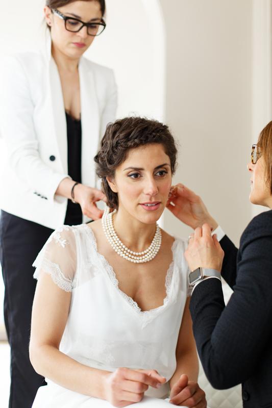 bijoux collier boucles de la mariée habillage