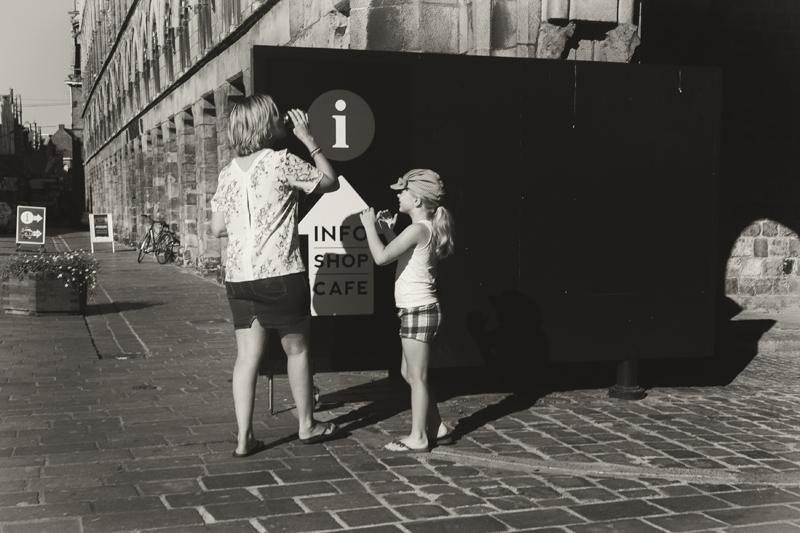 photographe de rue noir et blanc Flandre Belgique
