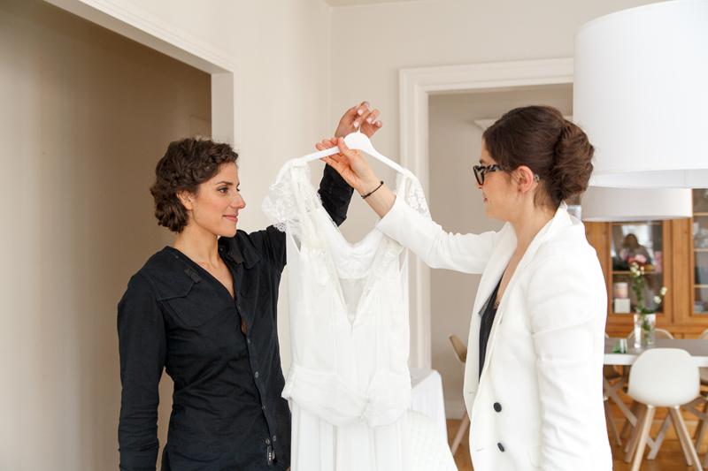 robe de mariée emballage avant habillage