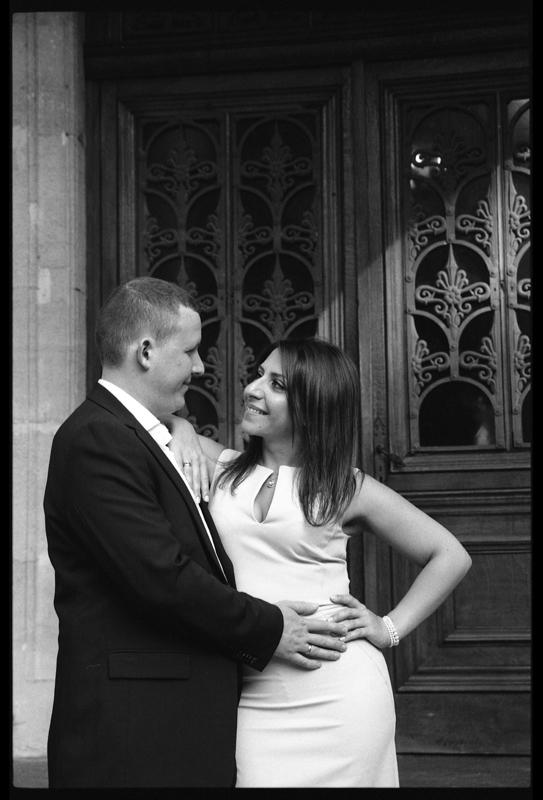 photographe-engagement-noir-et-blanc-nord-chateau-cambrai