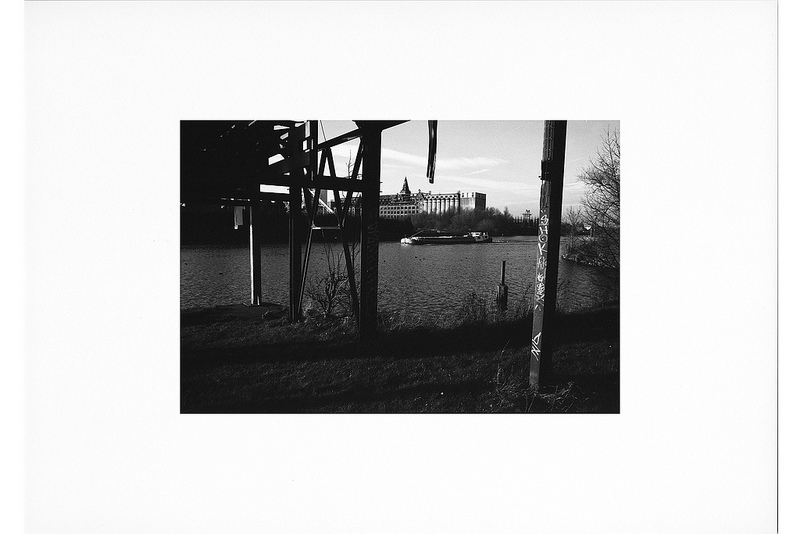 pellicule noir et blanc tirage photo canal Nord