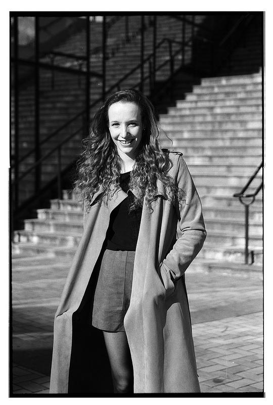 portrait noir et blanc à Lille Kodak TMAX