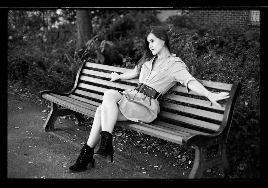 shooting modèle Lille en noir et blanc argentique