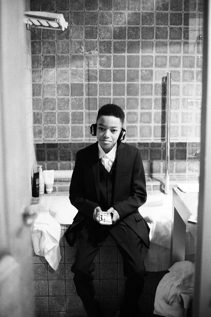 Portrait sur pellicule Ilford 35 mm
