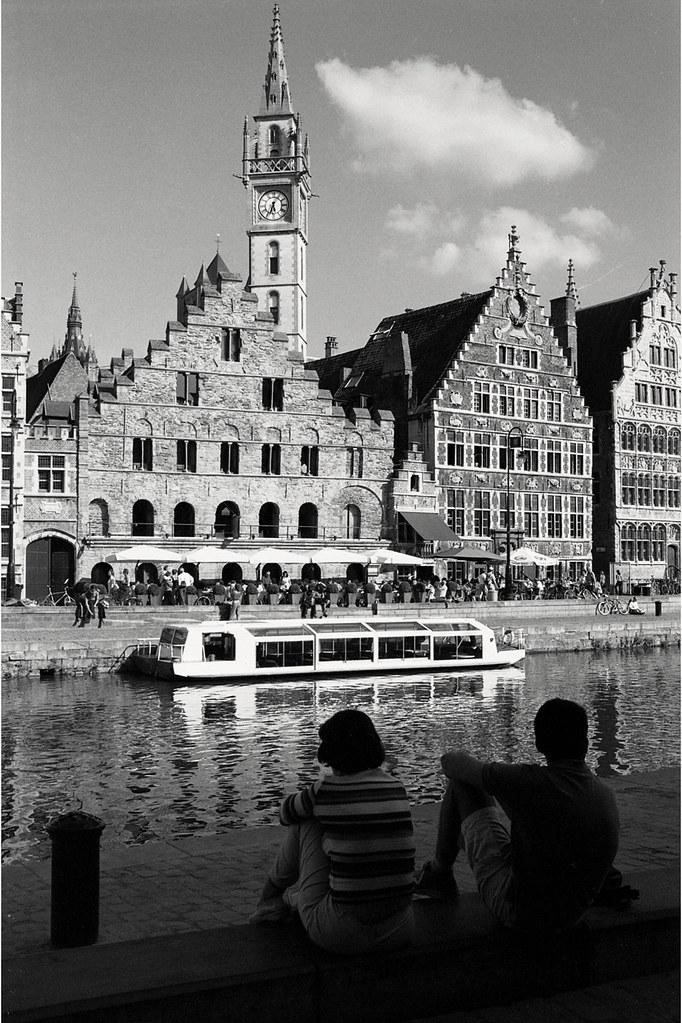 Balade photographique à Gand avec Olympus argentique OM2n et Zuiko 35 mm F2.85