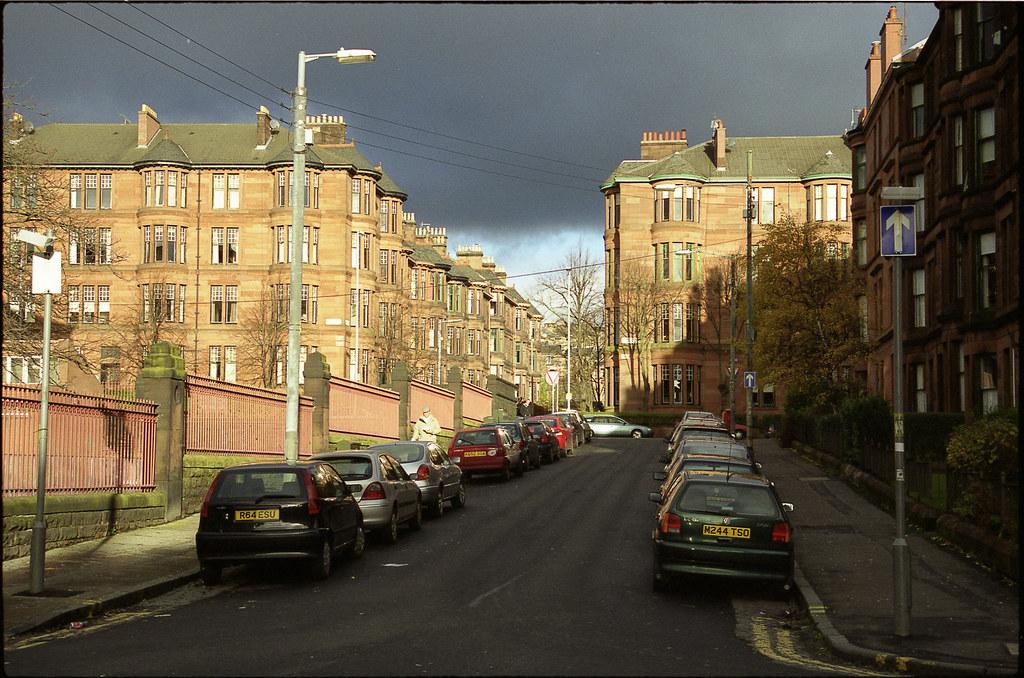 Glasgow en Kodak Gold - pellicule couleur Ecosse - Scan du négatif à Lille