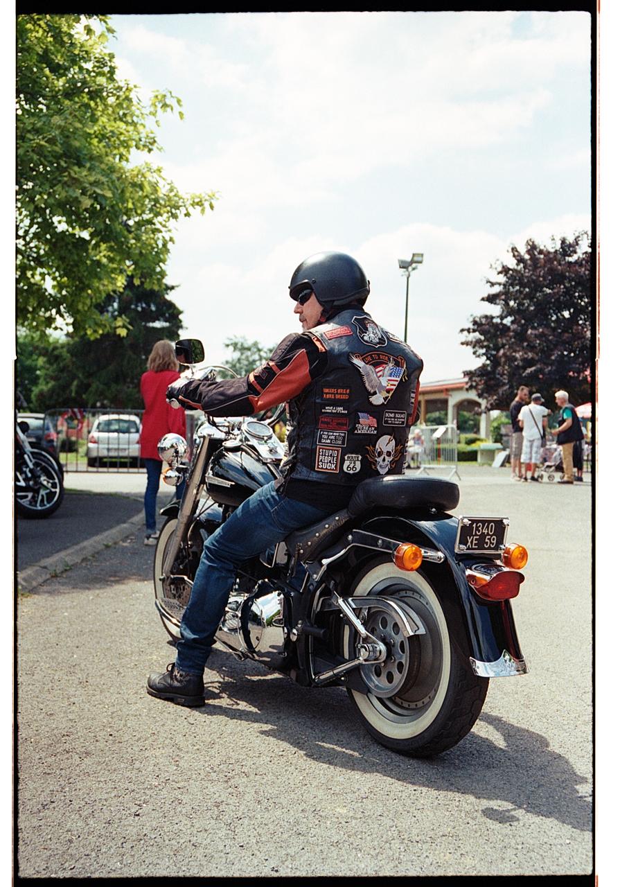 Harley Davidson photographie couleur argentique vintage Nord photographe professionnel Lille événements