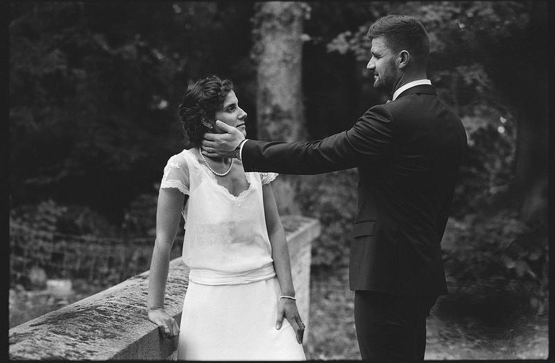 Photographie de mariage en noir et blanc Lille