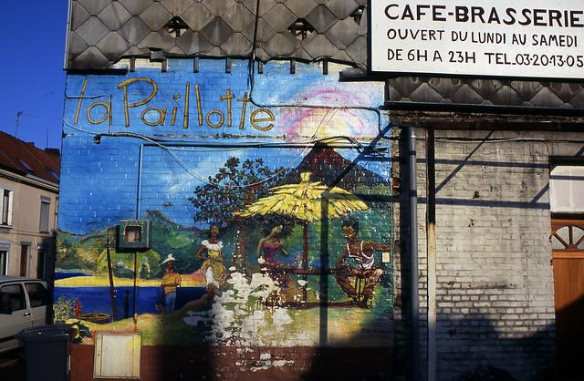 Fresque murale - Photographie d'une peinture murale disparue - Nord - Photographe argentique