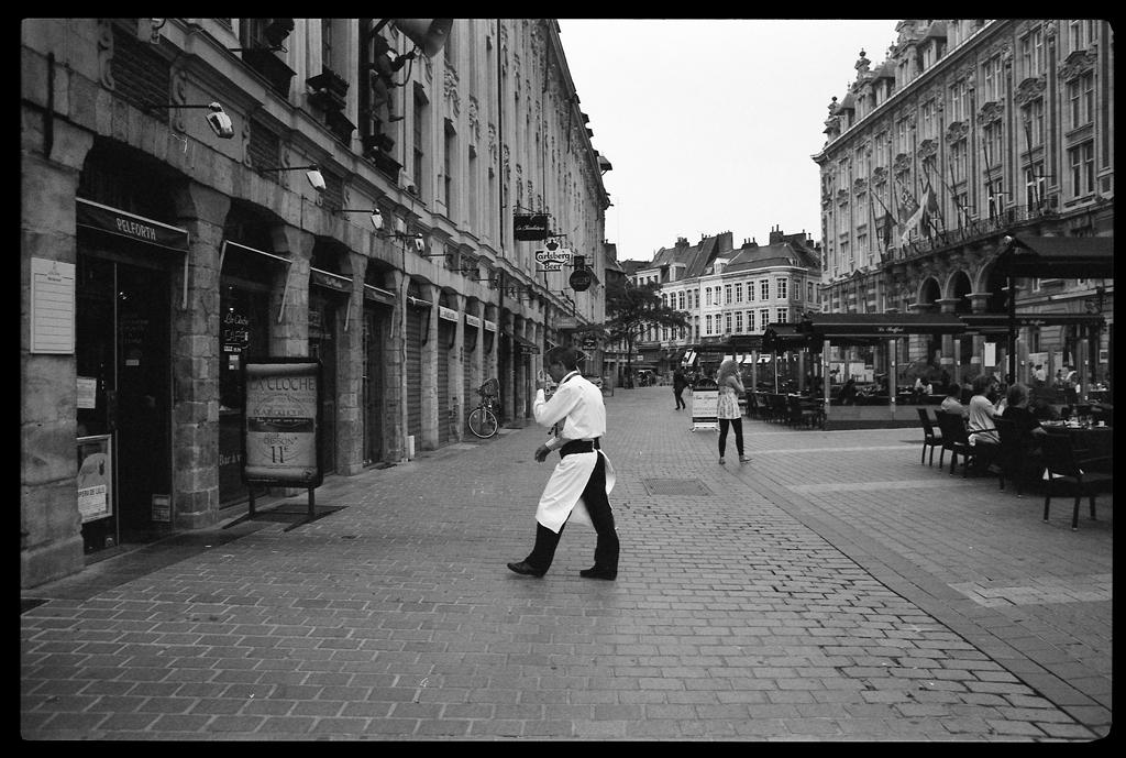 Pentax P30n - Photographie noir et blanc argentique - Le serveur