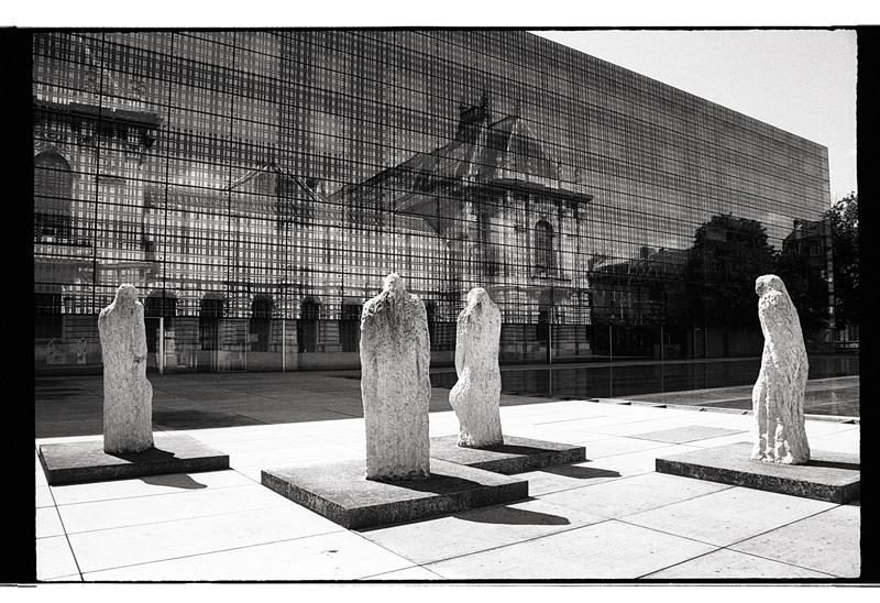 Musée des beaux arts de Lille en noir et blanc argentique
