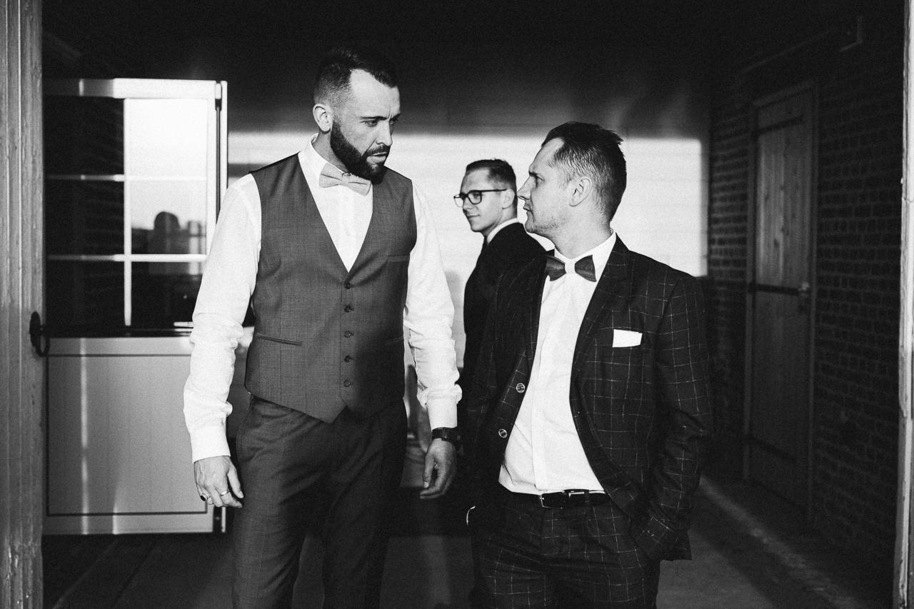 Photographe mariage en noir et blanc et cinéma