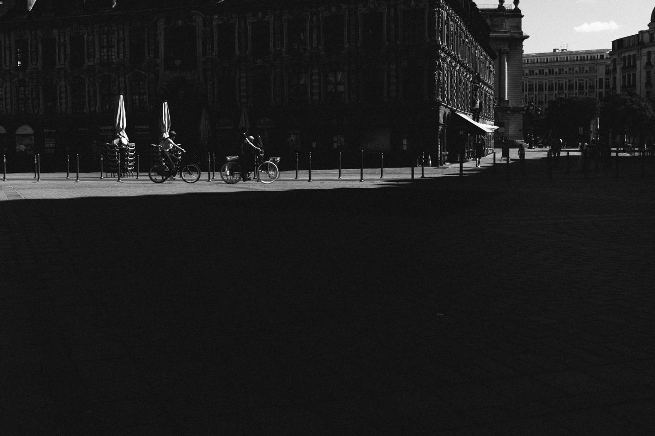 Le Vieux Lille en noir et blanc autre époque