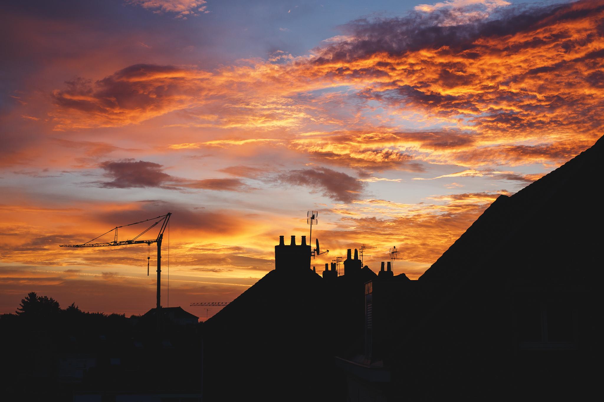 Lever de soleil flamboyant avec Canon EOS 6D et 50 mm Sigma - Cours photo apprendre la photo de coucher de soleil Lille