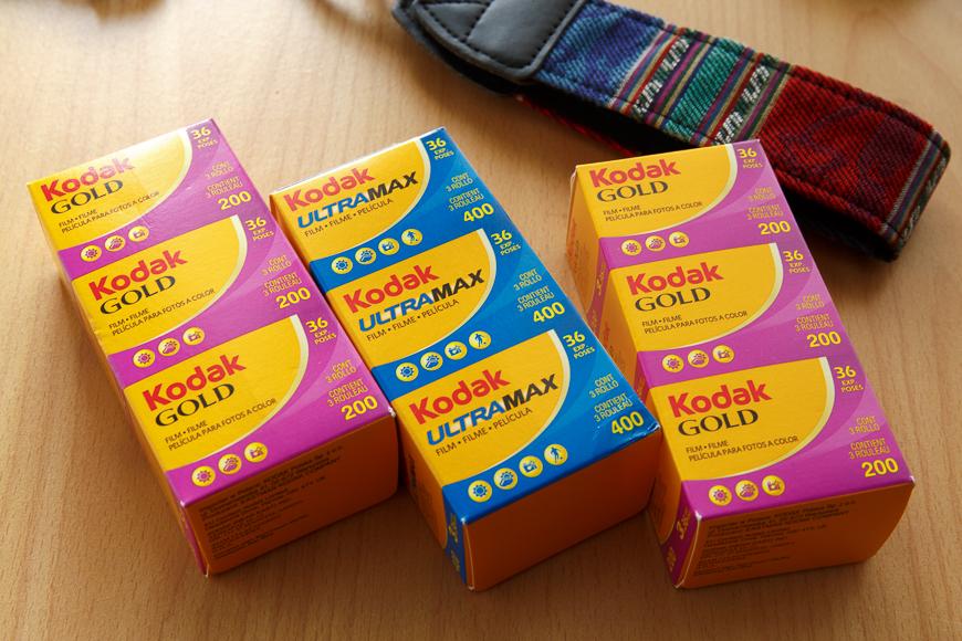 Pellicules couleurs Kodak fraîches