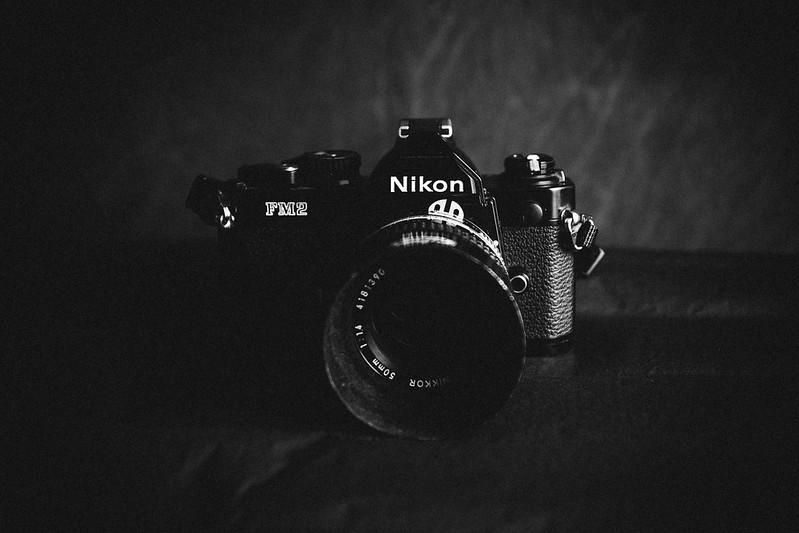 Portrait noir et blanc argentique pellicule 135 mm