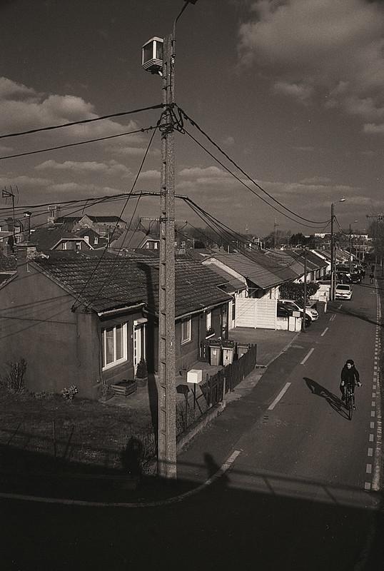 Utilisation d'un filtre orange B+W 040 avec un film noir et blanc Kentmere 100 à Lille